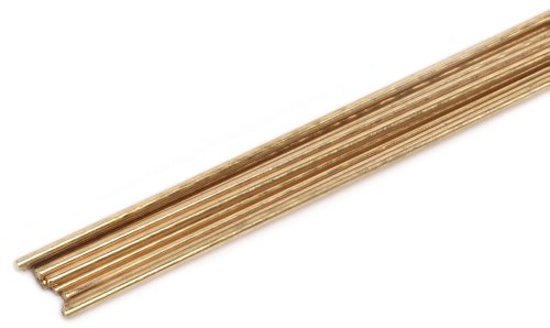Forney 48300 Bare Brass Gas Brazing Rod, 3/32-Inch-by-18-Inch, 10-Rods by Forney