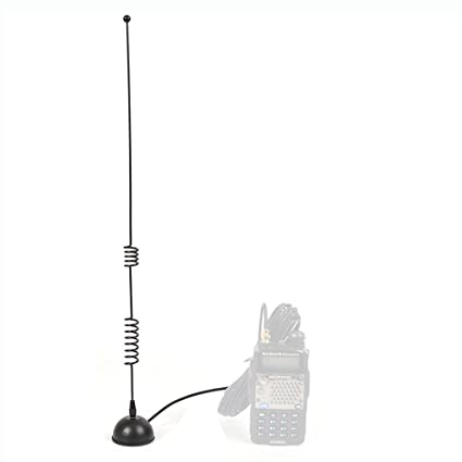 HYS VHF/UHF 2M/70CM SMA-Female Magnetic Mount (Heavy Duty) Indoor Antenna  MS801 for BaoFeng AnyTone Yaesu Ham Radio