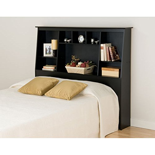 Headboard Metro Bedroom (Metro Shop Broadway Black Full/Queen Tall Slant-back Bookcase Headboard)