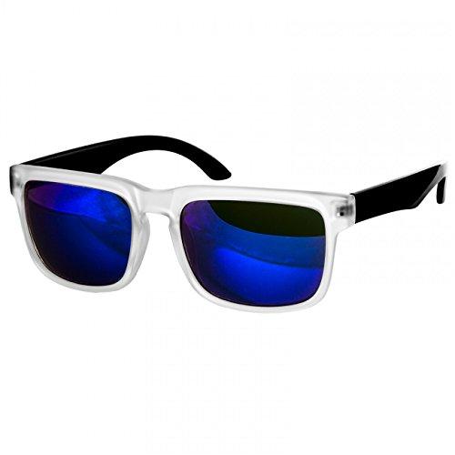 SG018 Negro de Gafas Espejo Retro Unisex Varios Caspar con Montura Opacada Sol Azul Colores de dB5x6OPq