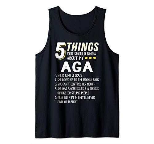 Funny 5 Things Grandma Aga Gift Idea Tank Top