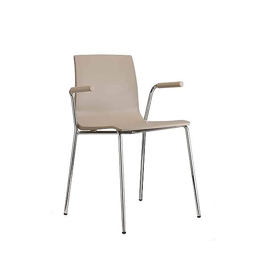 Scab Set 2 Design Alice sillón con Patas cromadas y Asiento ...