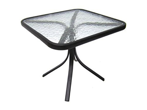 Mainstays Square Outdoor Glass Top Side Table 2 Set