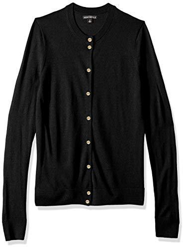 (J.Crew Mercantile Women's Merino Wool Cardigan, Black L)