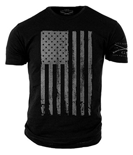(Grunt Style America Men's T-Shirt (Large, Black))