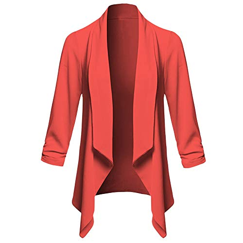 Clearance Womens Coat Cinsanong Blazer Casual Open Front Cardigan Tops Long Sleeve Solid Jacket