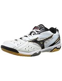 mizuno badminton shoes Wave Fang pro 71ga1500 White/Black/Gold (09)