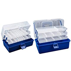 1pc 3 Layers / 4 Layers Big Fishing Tackle Box High Quality Plastic Handle Fishing Box Carp Fishing Tools Fishing Accessories Note: The colors deviation might differ due to different monitor settings. We provide you with the best product and ...