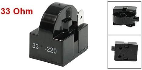 33 Ohm Widerstand Single Pin Terminals Kühlschrank Ptc Starter Relais Baumarkt