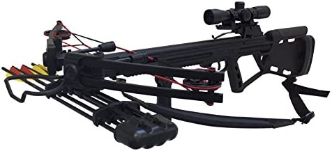 Southland Archery Supply SAS Crusher 150lbs Tactical Crossbow 4×32 Scope Package