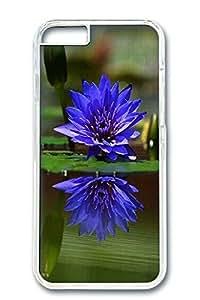 iPhone 6 Case, Custom Design Covers for iPhone 6 PC Transparent Case - Blue Lotus