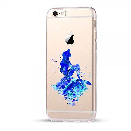 Disney Arielle Princess Schutzhülle Appel Iphone Serie TPU transparent Silikon Case Appel Iphone 7 Plus/8 Plus Comic Cartoon Hülle -AcAccessoires #0030 (Iphone 7 Plus/8 Plus)