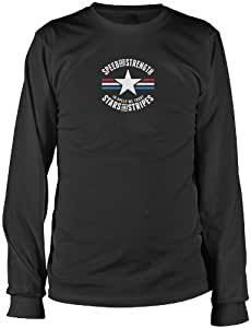 Speed and Strength Men's Stars and Stripes Long-Sleeve Shirts, Black, Large