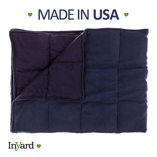 Premium Weighted Blanket for Kids By InYard - 5 lbs - Navy Blue - Suitable for a Child Between 30-40 lb by InYard (Image #6)