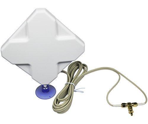 ESUMIC 35DBI 3G 4G LTE TS9 SMA External Antenna for HUAWEI B970 B593 B933 E398 E3276 E5776 Router Mobile Broadband by ESUMIC