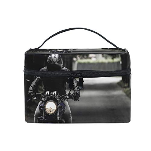Makeup Cosmetic Bag Biker Motorcycle Ride Vehicle Road Portable Storage with -