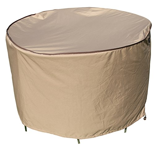 SORARA Round Table and Chair Set Cover Outdoor Porch Furniture Cover, Water Proof, All Weather Protection, 60'' Dia. (Table & Furniture Chairs Cover Inch 6 Dining Set 60 Outdoor)