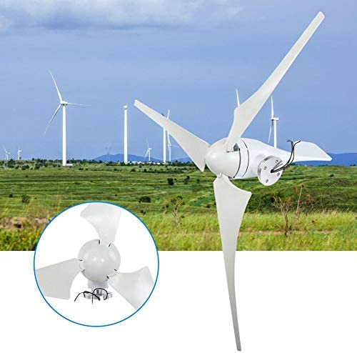 Meiyya Windgenerator, 3PCS100W 12V NE-100S Windturbinengenerator 580mm Nylonfaser Windblätter Power Windmill(12V)