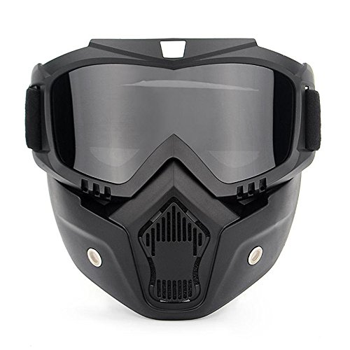 Ubelly Airsoft Goggles Mark,Motorcycle Goggles With Detachable Mask,Airsoft Safety Goggles Mask UV400 Protection,Cool Helmet Glasses