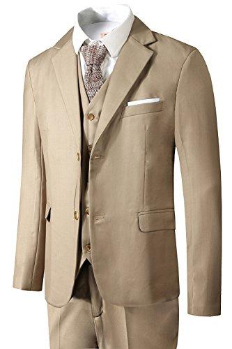 Men's Suit 3 Piece Busines Classic Solid Regular Fit Blazer Coat Vest Pants - Suit Man Is