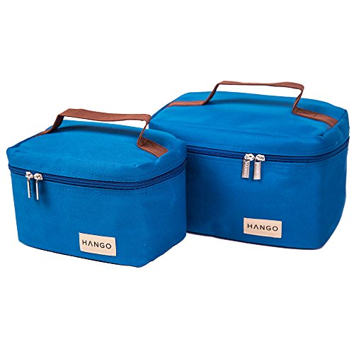 Hango Insulated Lunch Box Cooler Bag , Blue