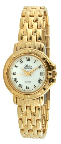 Swiss Edition Women's Watch with 23k Gold Plated Dress Bracelet and Swiss Made Analog Quartz - Swiss Plated Watch Gold