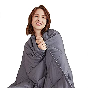 Image of Hiseeme Weighted Blanket Adult 20 lbs (60'x80', Queen Size Bed) Comfortable and Provide a Good Sleep (Dark Grey) Hiseeme B07N7WQY46 Weighted Blankets