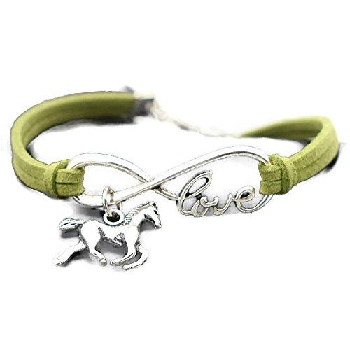 Amazon com: Chompunut Love Horse Charm Infinity Bracelets