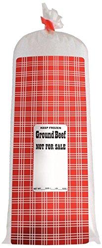 UltraSource 190050 Ground Beef Meat/Chub Bag, NFS, 2 lb., 5