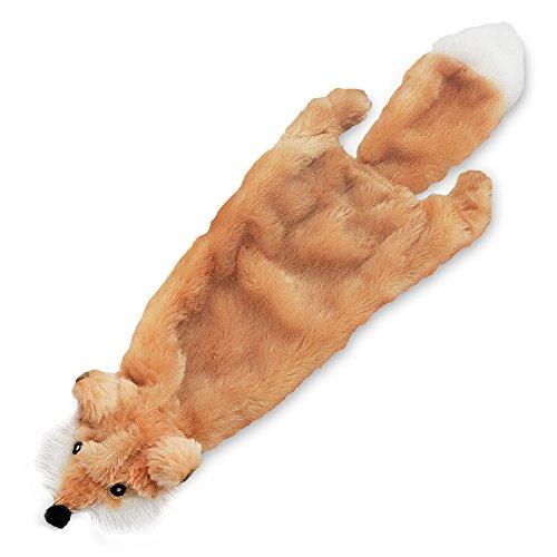 Best Pet Supplies 2-in-1 Fun Skin Stuffless Dog Squeak Toy, Small, Fox