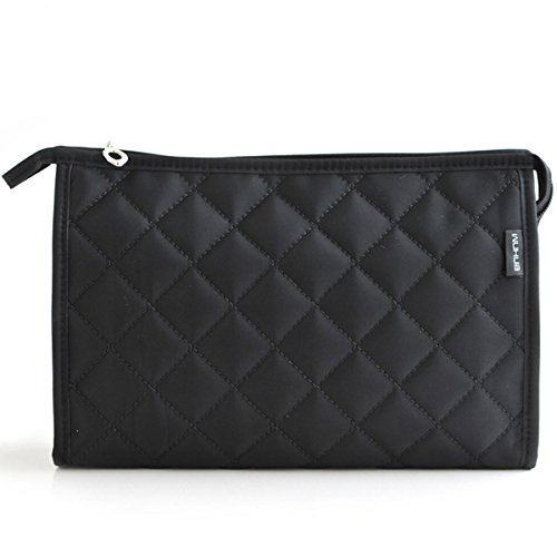 LittleStar Cosmetics Pouch Travel Case Make up Bags for Lady Accessory Organizer (Black) (Bag Cosmetic Quilted)