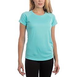 Vapor Apparel Women's UPF 50+ Sun Protection Performance Short Sleeve T-Shirt Large Water Blue