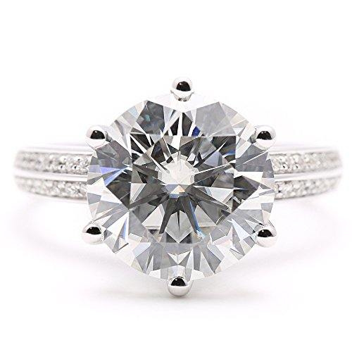 5 carat diamond ring - 5