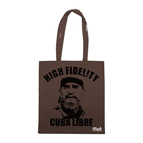 Borsa FIDEL CASTRO-ESCOBAR CUBA O PLOMO - Marrone - POLITICA by Mush Dress Your Style