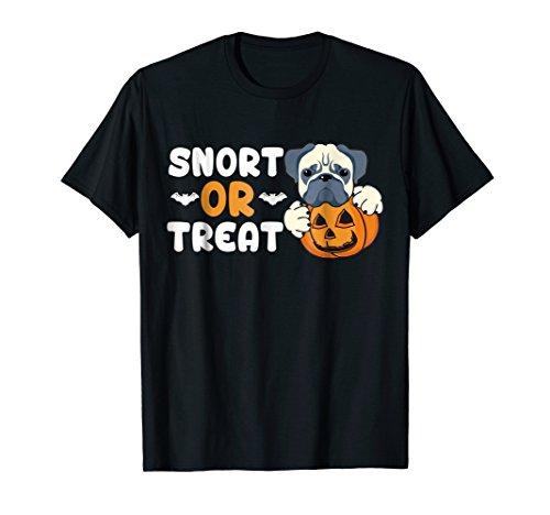 - Snort Or Treat Funny T-shirt Trick Bulldog Pumpkin Lantern