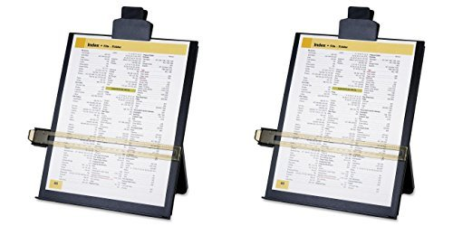 Business Source Easel Document Holders, Adjustable, 10-3/8 x 2-1/4 x 12-1/2 Inches, Black (BSN38952), 2 Packs