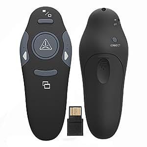 Ranipobo 2.4GHz Wireless USB PowerPoint PPT Presenter Remote Control Lase Clicker for Speech, Presentations, Teaching, School Assemblies
