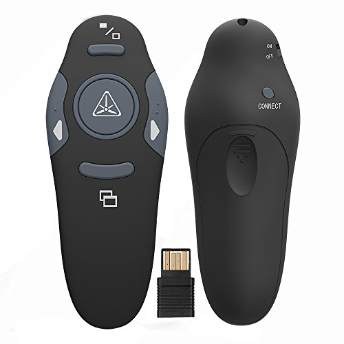 Ranipobo 2.4GHz Wireless USB PowerPoint PPT Presenter Remote Control Lase Clicker for Speech, Presentations, Teaching, School Assemblies