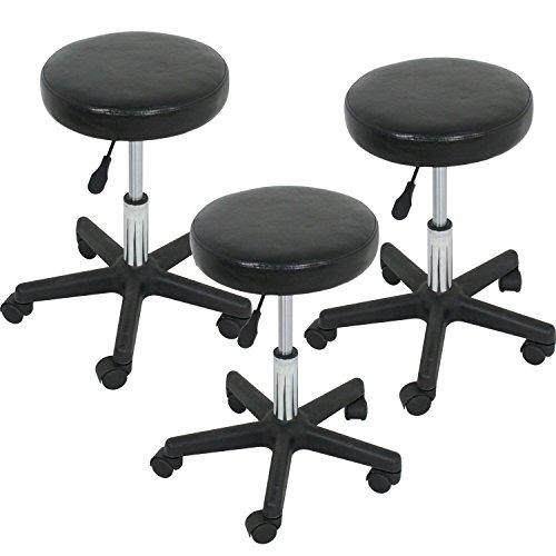LEMY Hydraulic Salon Rolling Stool Tattoo Massage Facial Spa Adjustable Stool Chair