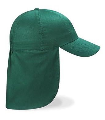 Children s Legionnaire Cotton Sun Hat With Neck Flap - Age 3-10 - Green e7bc76dc623