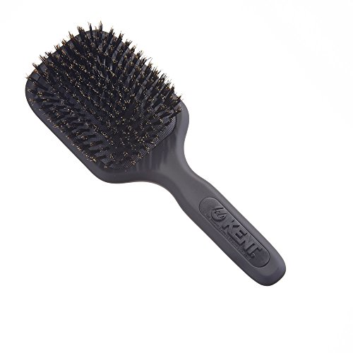 KENT AH13G Airhedz Pro Pure Bristle Paddle Brush (Medium, (Kent Paddle Brush)