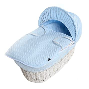 Cuddles Collection Blue Dimple Moses Basket Dressings Only