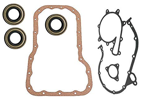 IMSEALSET FOR MERCRUISER 470 (170) three front timing set gaskets plus three special CAM seals with two lips with springs.3 seals will fit (6 cam seals).w/oil pan because it gets damaged with repair.