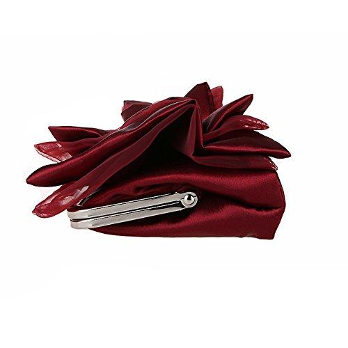 Flada sac papillon fille main soie fleur de Noir strass embrayage à abricot noeud mariage soir couleur UUvqrBw