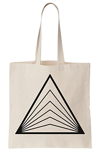 Tote Optical Triangle Artwork Canvas Bag ttCRAOqgxw