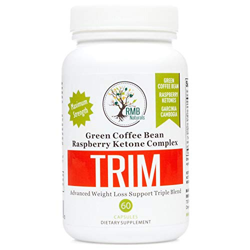 Garcinia Cambogia Trim Complex - Green Coffee Bean + Raspberry Ketones, Keto Diet - Weight Loss Blend RMB Naturals - 60 Caps