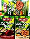 Emerald 100 Calorie Almond VARIETY PACK: 2 boxes of DRY ROASTED ALMONDS, 2 boxes of COCOA ROASTED ALMONDS & 2 boxes of SIMPLY NATURAL ALMONDS. Each box contains 7 packages of delicious almonds. 42 total packs!