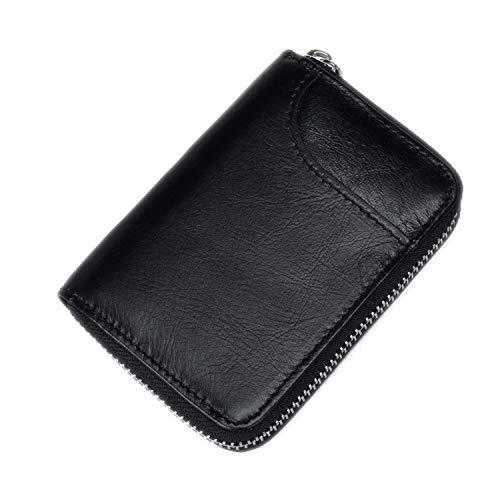 (Credit Card Holder Leather Function Card Case Business Card Holder Men Women Card Id Wallet Blocking Black,Black)