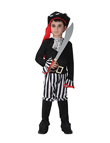 Spring fever Novelties USA Rascal Kids Striped Pirates boy Costume Toys Halloween Cosplay M for (Usa Cheerleader Costume Australia)