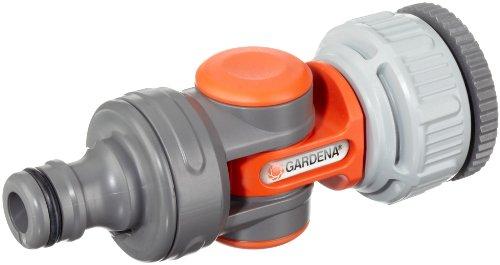 41IPy4LF39L Gardena Winkelhahnstück: Winkelanschluss für 26.5 mm (G3/4 Zoll)-Wasserhahn mit 33.3 mm (G1 Zoll)-Gewinde, 21 mm (G1/2…